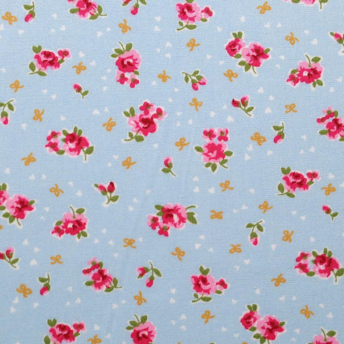english rose - sky blue - overdale fabrics