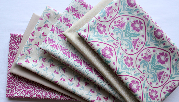 arts and crafts fat quarter bundle of 6 fabrics