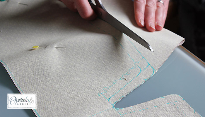 cutting out sewing pattern