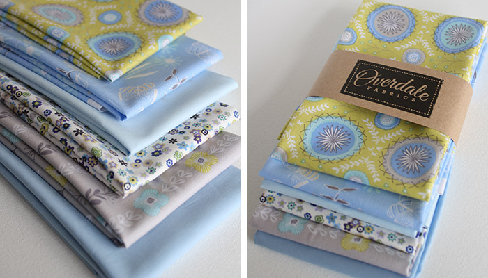 Flyaway flowers fabric and retail packaging