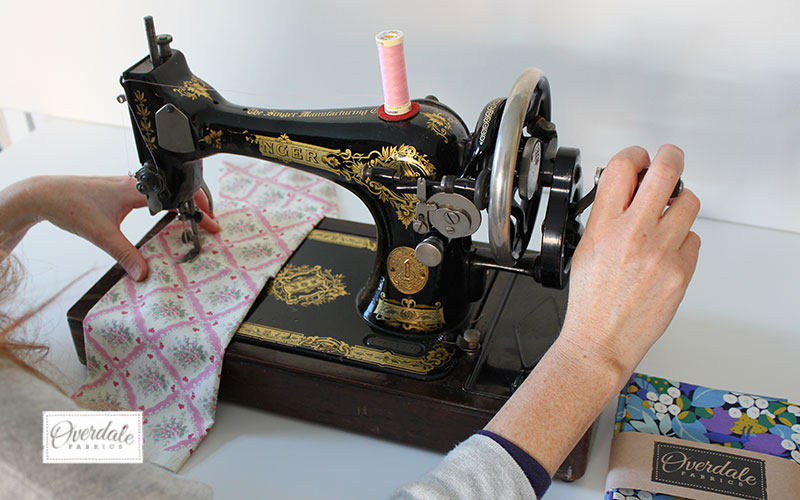sewing on a rotary singer sewing machine