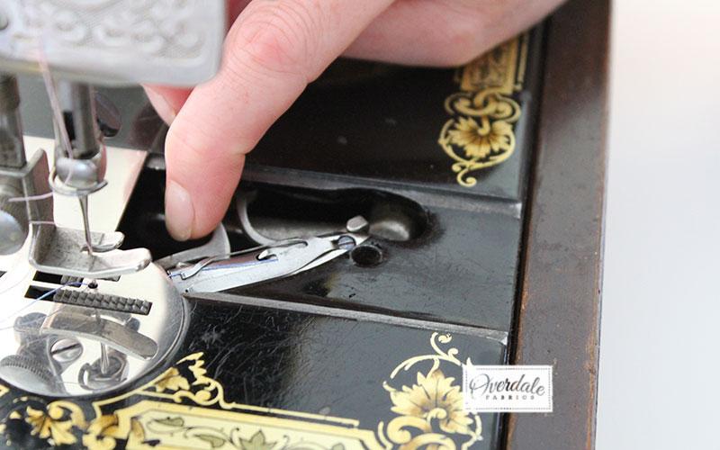 bobbin on vintage singer sewing machine