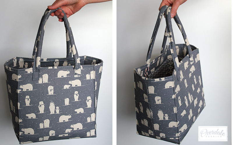 bag made from polar bear fabric