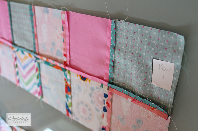 rows of quilt squares sewn together