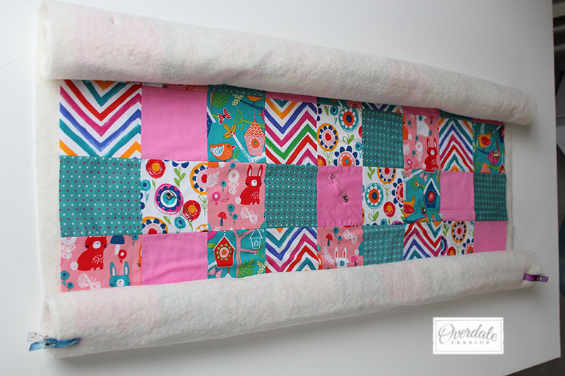 quilt panel roll with backing