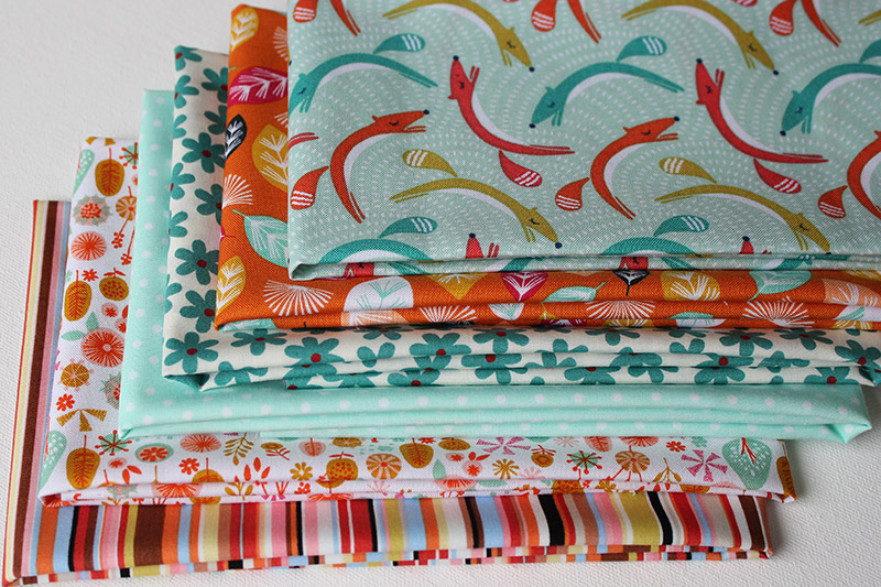 fox in the forest fat quarters bundle