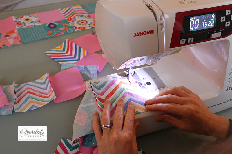Baby's Cot Quilt Tutorial – Ideal for Beginners | Overdale Fabrics : how to make quilt squares - Adamdwight.com