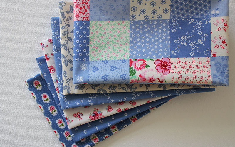 fabrics in my blue heaven fat quarters bundle