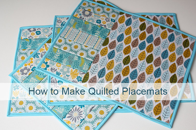 How to make quilted placemats.